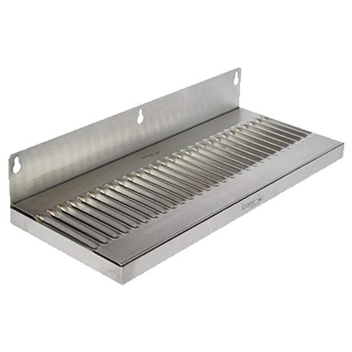 Krome Dispense- C619-30 Stainless Steel 304 Wall Mount Drip Tray No-Drain 14