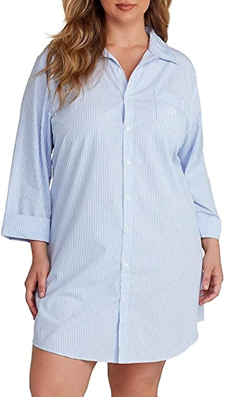Ralph Lauren Womens Button Down Non-Iron ¾ Sleeve Shirt