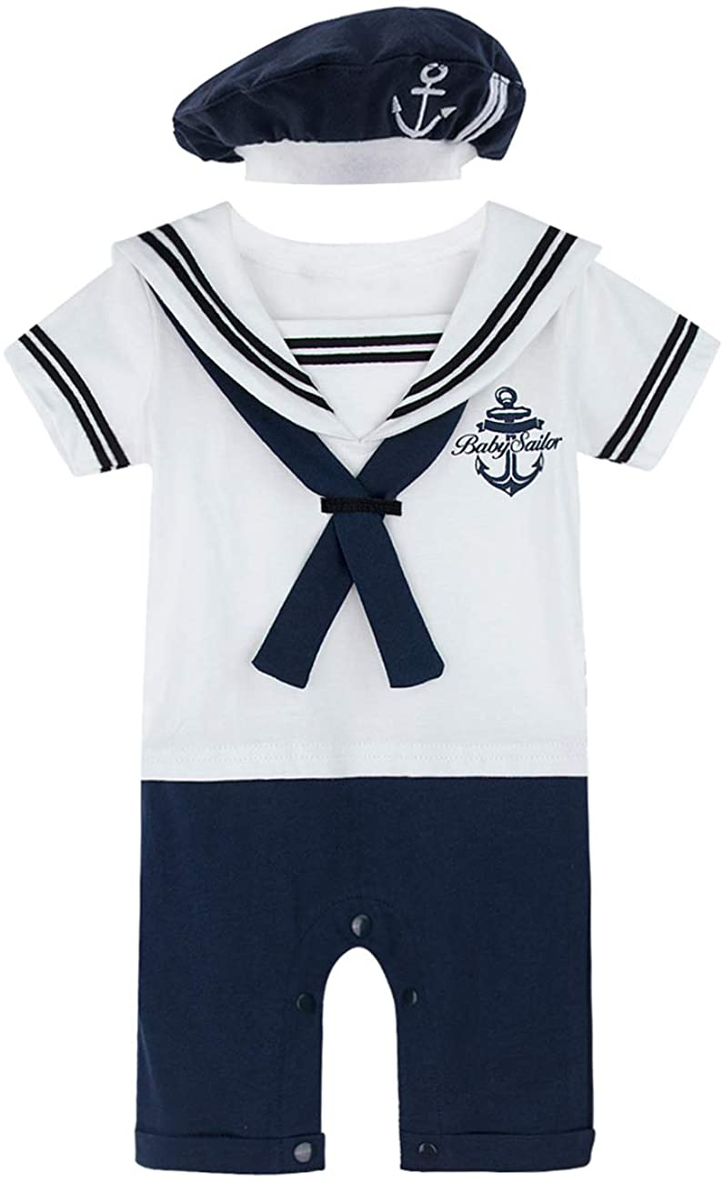 COSLAND Infant Baby Boys' Halloween Sailor Romper Costume