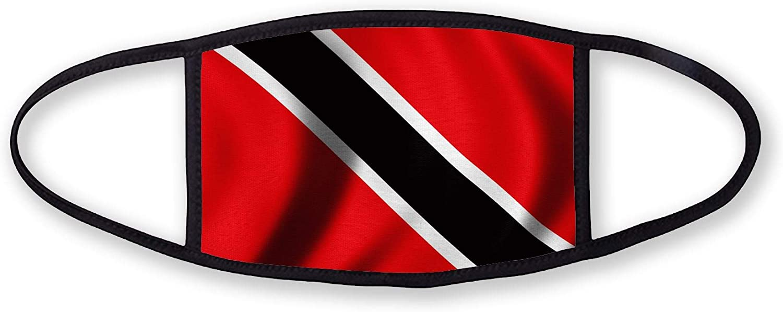 3-Layer reusable/washable Facemask - Flag of Trinidad & Tobago - Waves Design