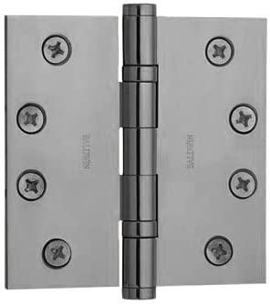 Baldwin 1041.150 Full Mortise 4-Inch x 4-Inch Ball Bearing Hinge, Satin Nickel