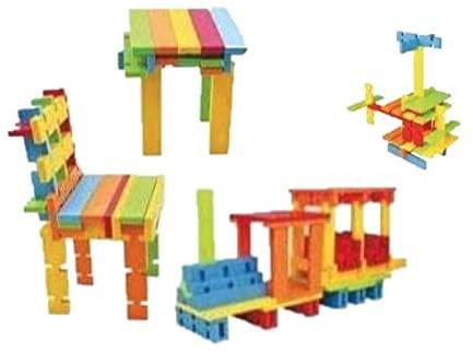 MeeYum Kids Stacking Toys Puzzle Sticks Building Blocks 120 PCS