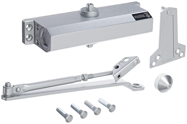 Hager 5400 Series Aluminum Grade 2 Standard Duty Surface Door Closer, Multi-Mount, 5 Fixed Spring Size, Sprayed Aluminum Finish