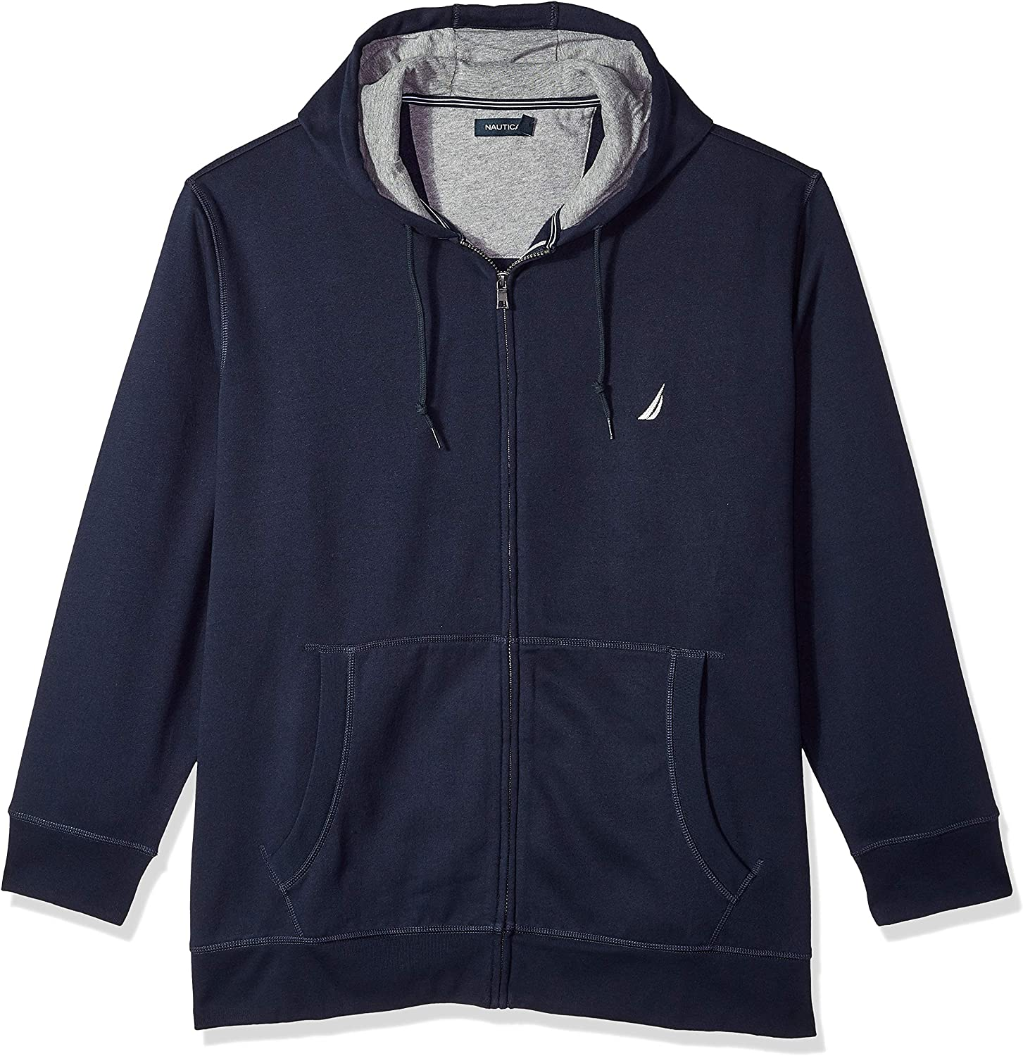 Nautica Mens Big and Tall Full-Zip Sweater Hoodie Sweatshirt