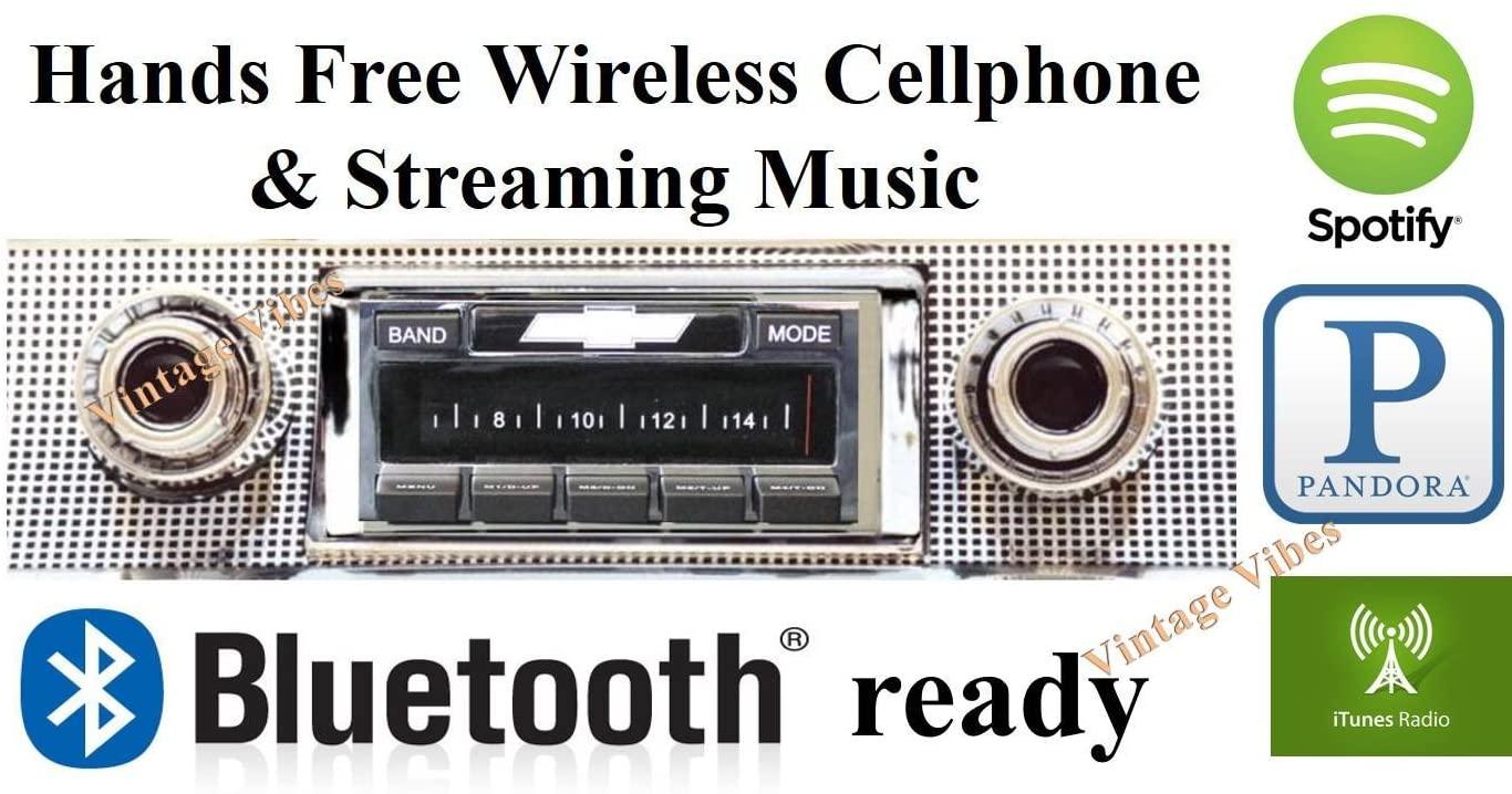 Bluetooth Enabled 1957 Bel Air, Nomad, 150/210 USA-630 II High Power 300 watt AM FM Car Stereo/Radio