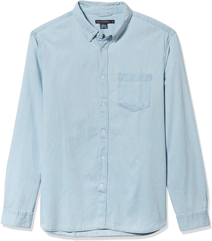 French Connection Men's Cotton Denim Shirts
