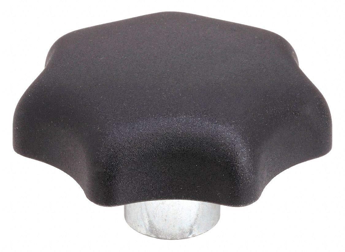Star Grip Knob, Steel Collar Style, 3/8-16 Internal Thread, 1.99