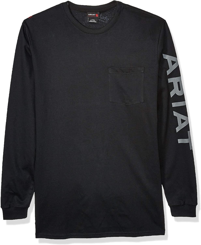 ARIAT Mens Flame Resistant Air Long Sleeve Crewwork Utility Tee Shirt