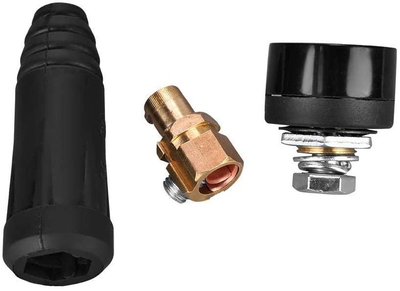 1Pcs DKJ Series European Style Welding Cable Quick Connector Quick Mount Adapter (DKJ35-50-Black)