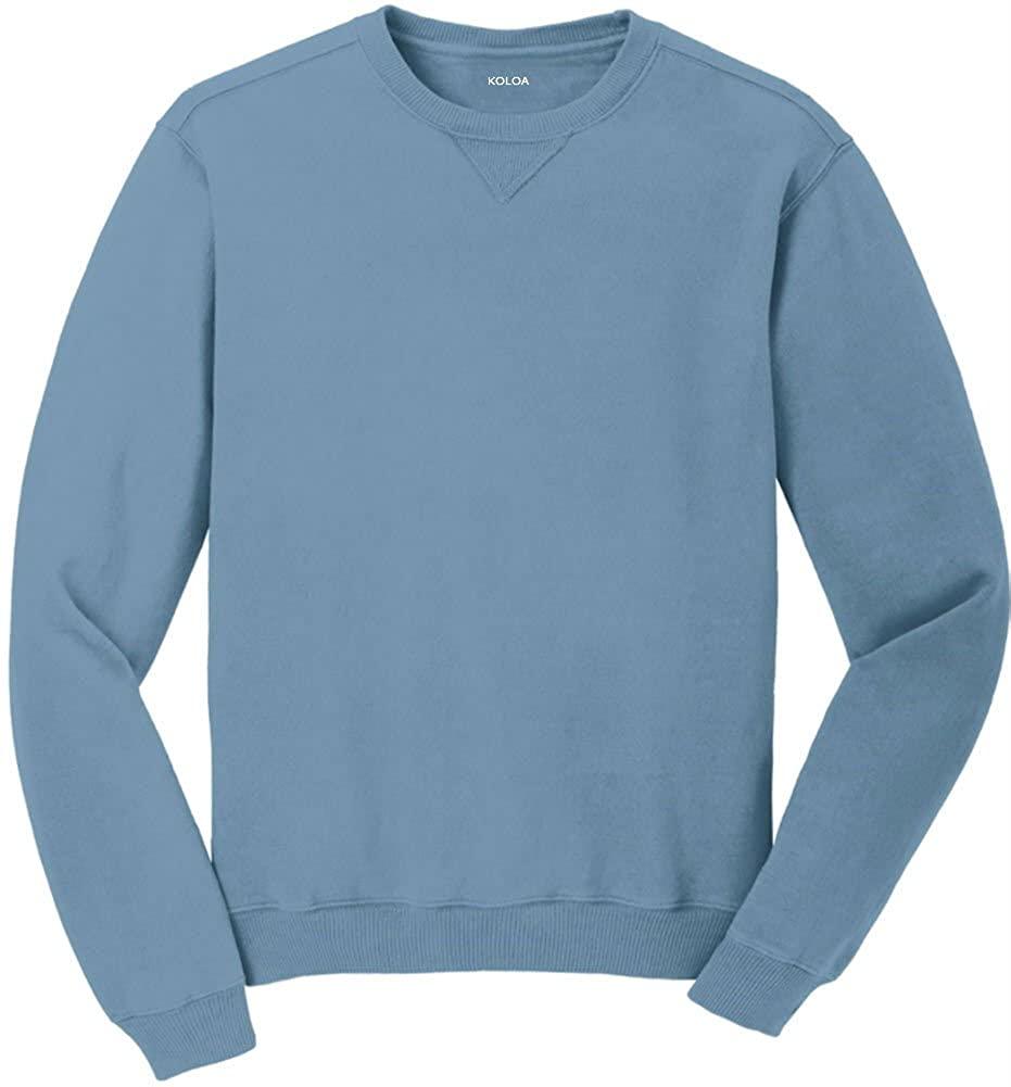 Koloa Pigment-Dyed Vintage Crewneck Sweatshirts in Sizes S-4XL