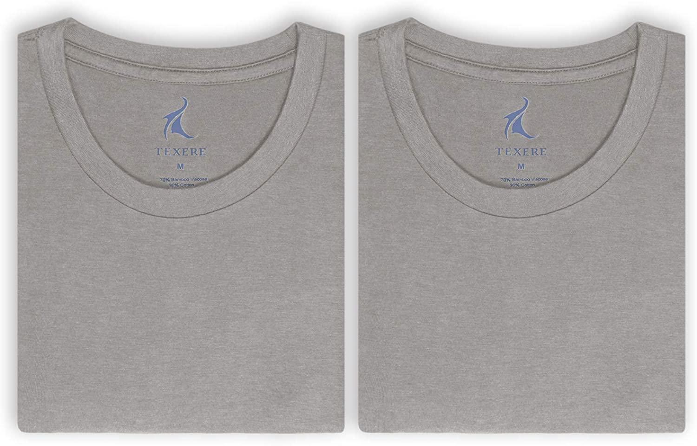 Texere Crew Neck Undershirt for Men (Dexx, Light Gray, L) Lightweight Shirts