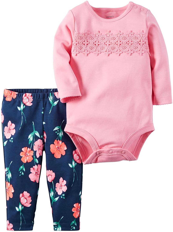 Carter's Baby Girls' Bodysuit Pant Sets 121g816