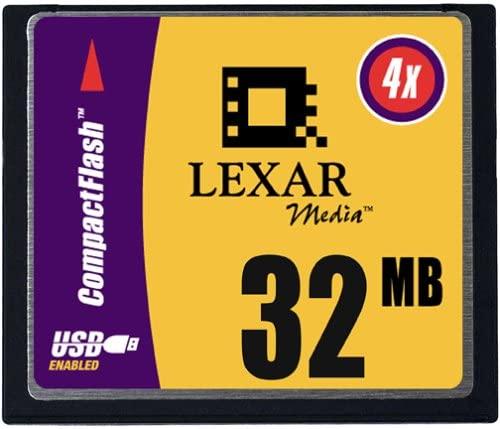 Lexar Media 32 MB 4X USB CompactFlash Card (CF032231)