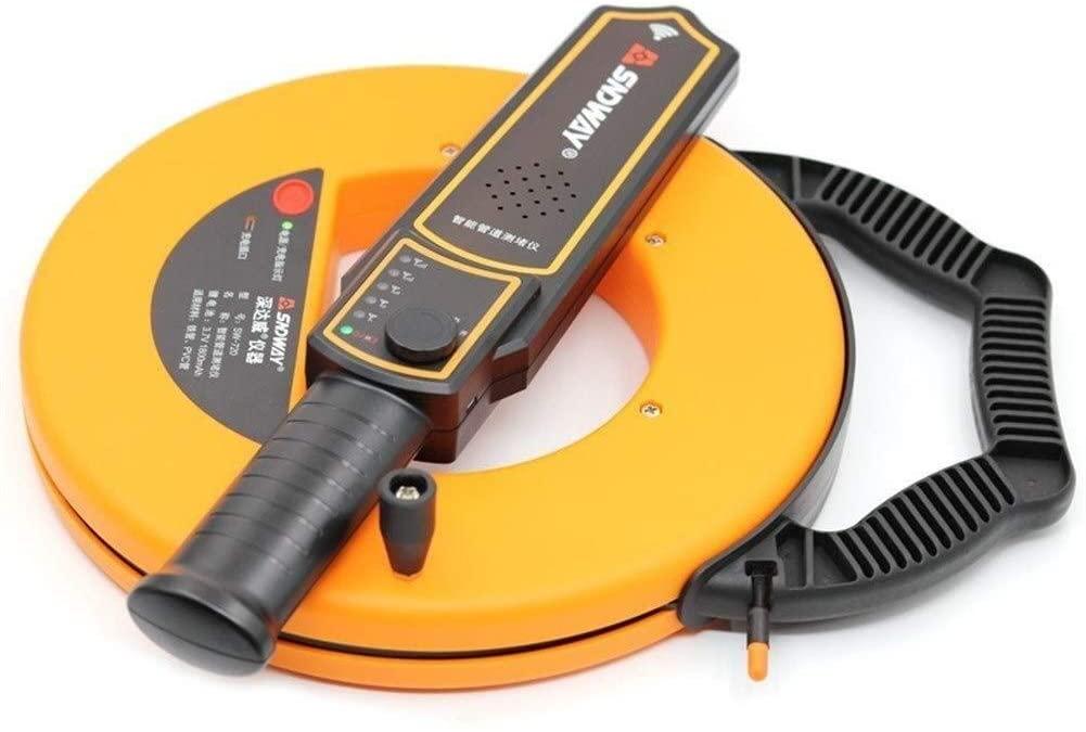 DSY 40m Pipe Scanner Thickness Gauge Pipeline Blockage Blocking Clogging Finder Plumbers Width Measure Instrument