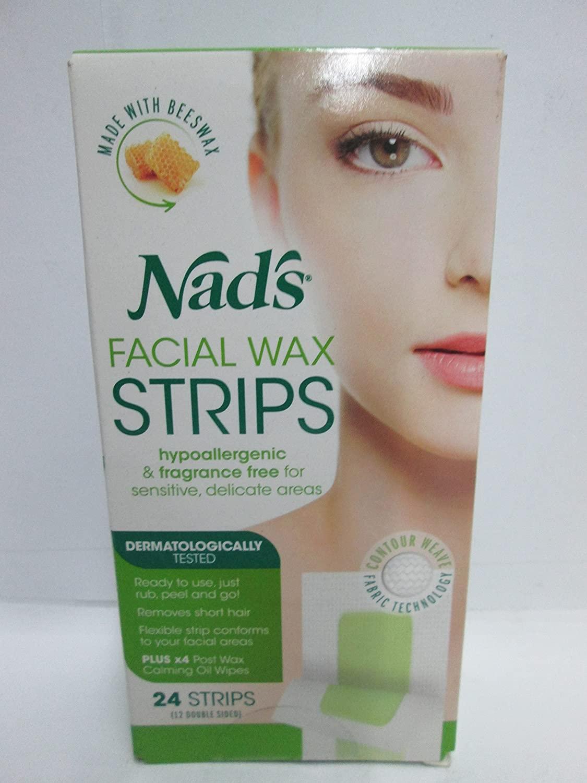 Nad's Facial Wax Strips 24 Each