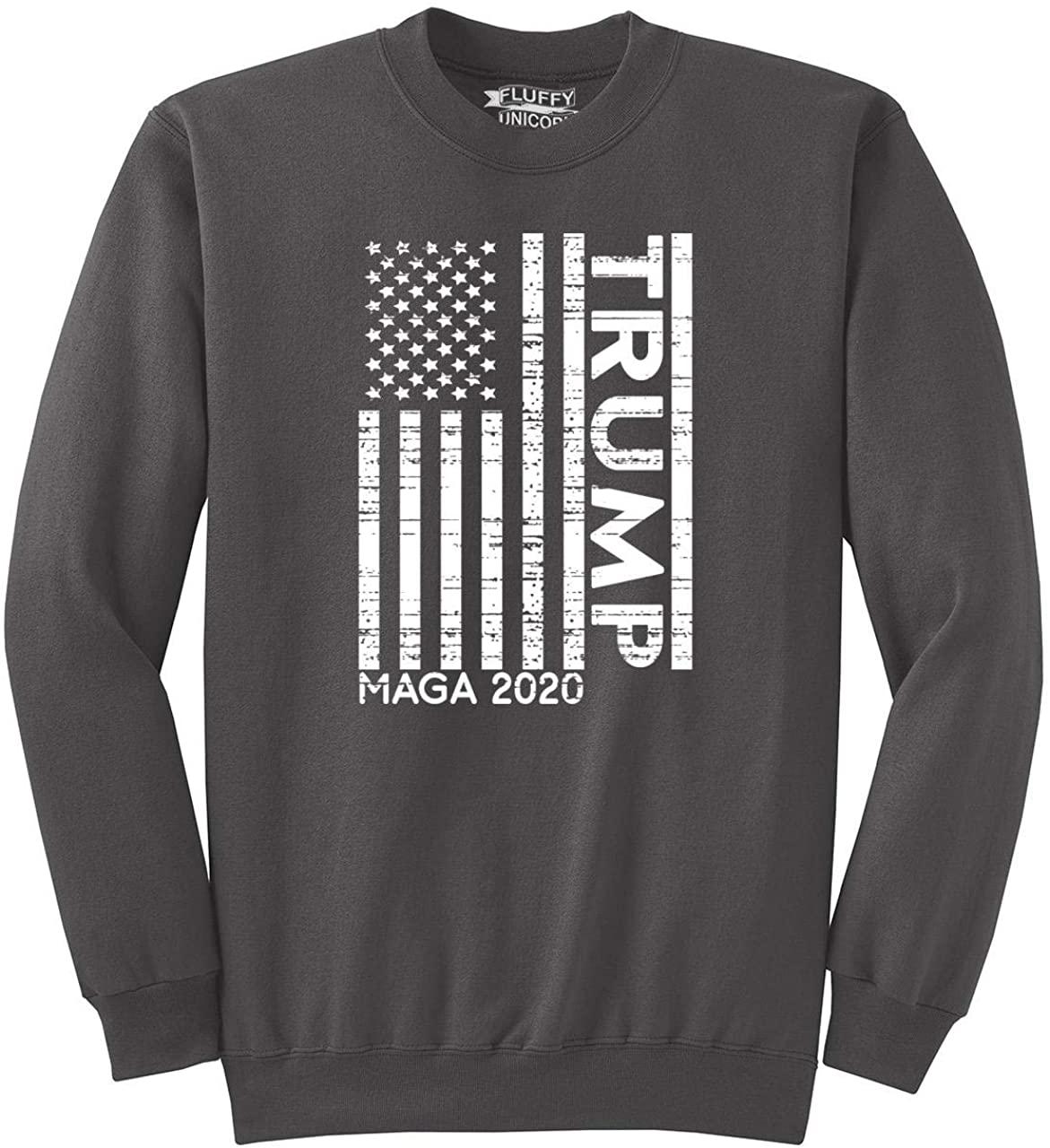 Comical Shirt Men's Trump American Flag MAGA 2020 Sweatshirt