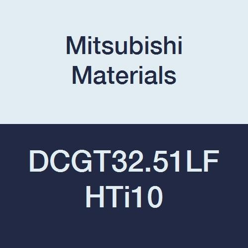 Mitsubishi Materials DCGT32.51LF HTi10 Uncoated Carbide DC Type Positive Turning Insert with Hole, Rhombic 55°, 0.375