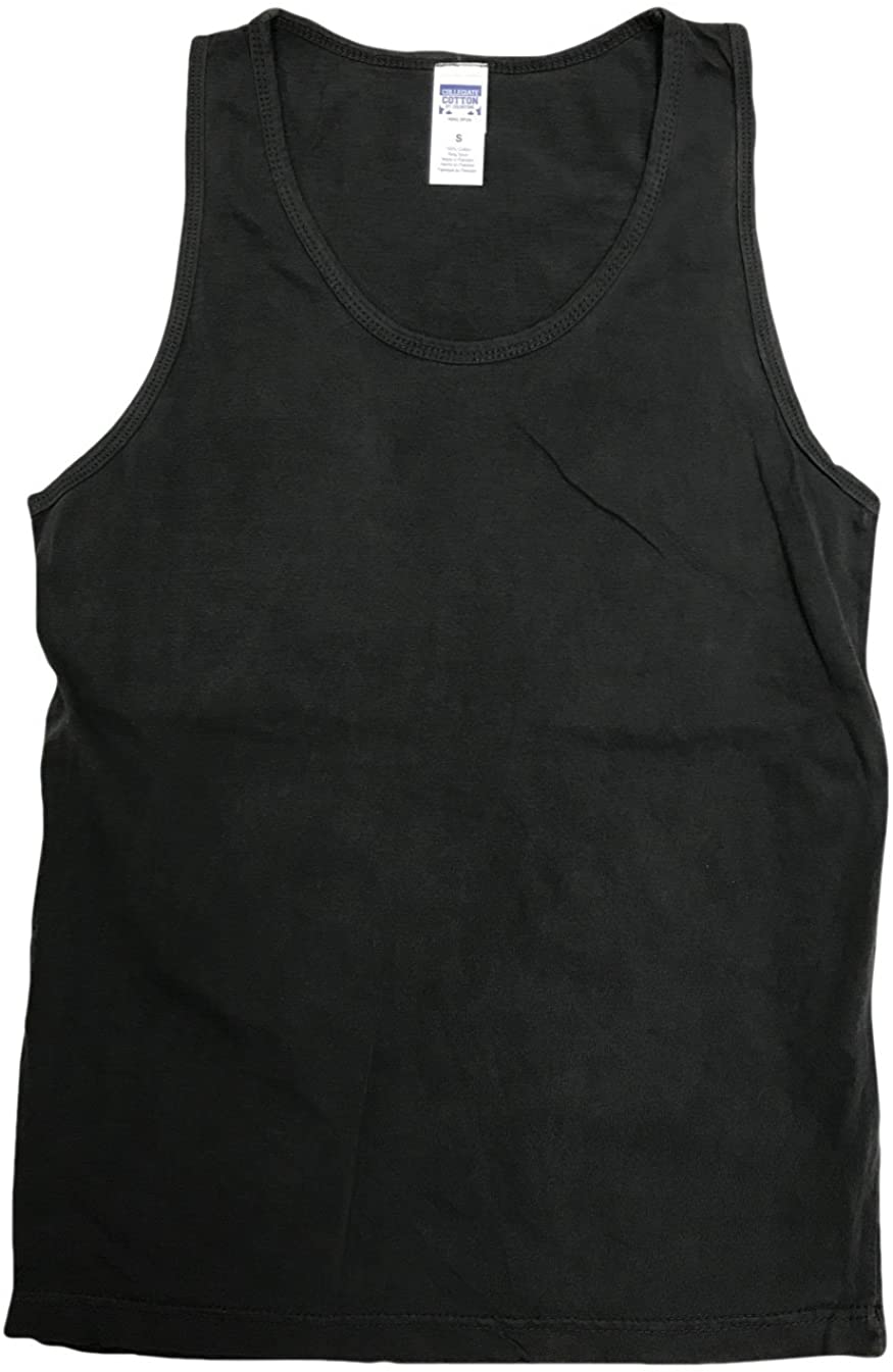 Collegiate Tank Tops, Sleeveless T-Shirts, Adult Small to XXX-Large, 100% Cotton