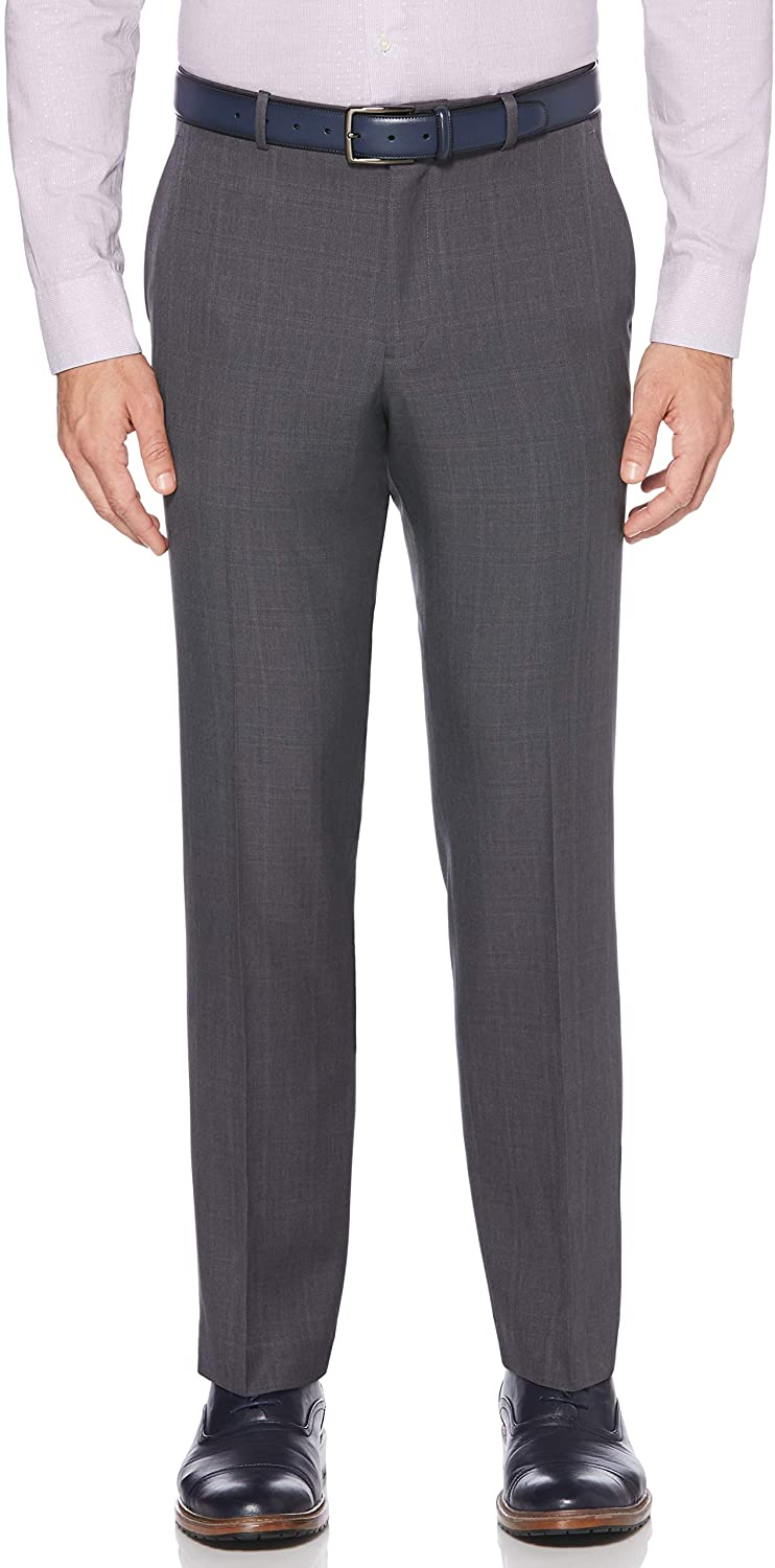 Perry Ellis Men's Portfolio Modern Fit Plaid Performance Pant