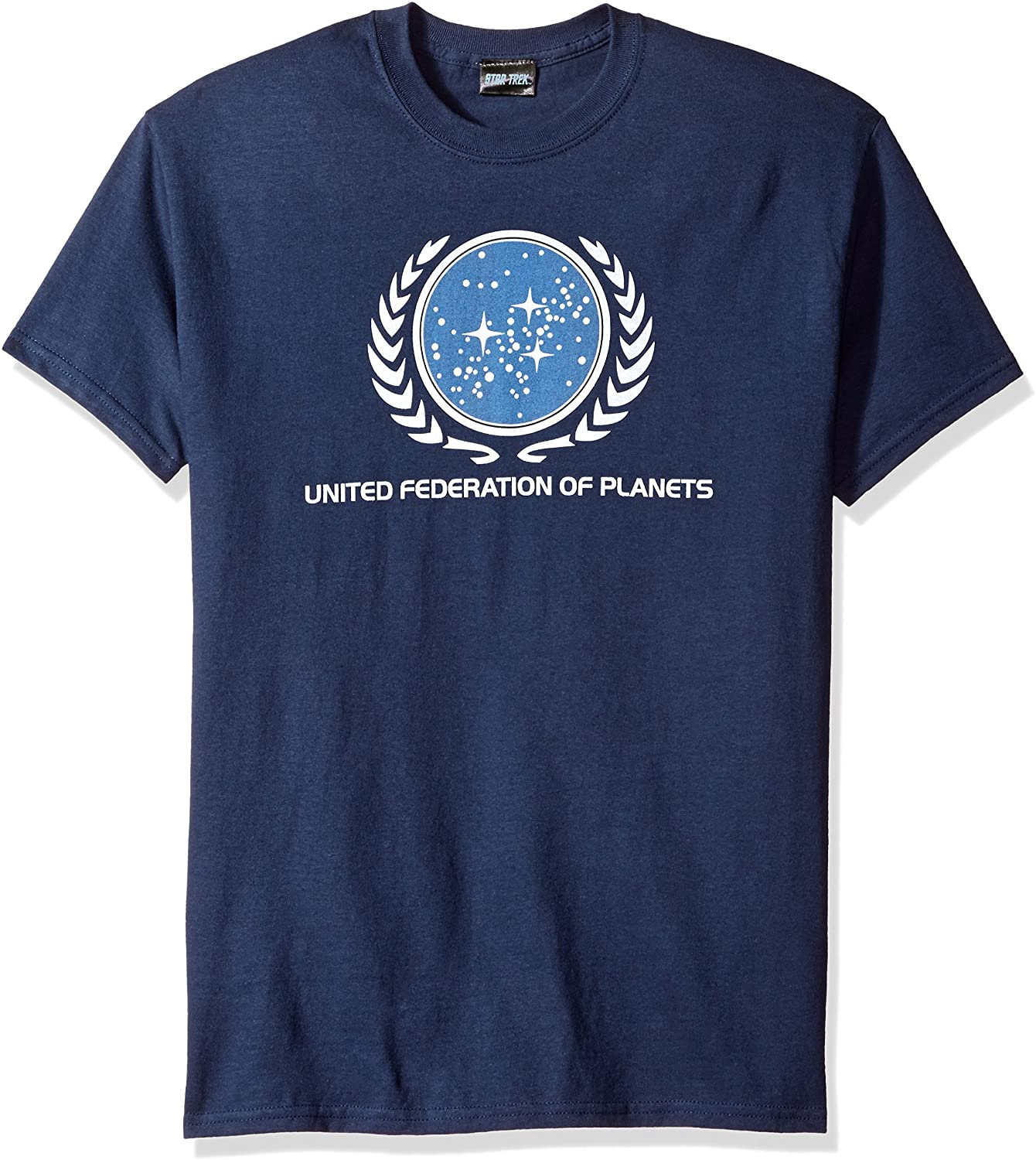Star Trek United Federation Logo Enterprise SciFi TV Navy Blue Adult T-Shirt Tee