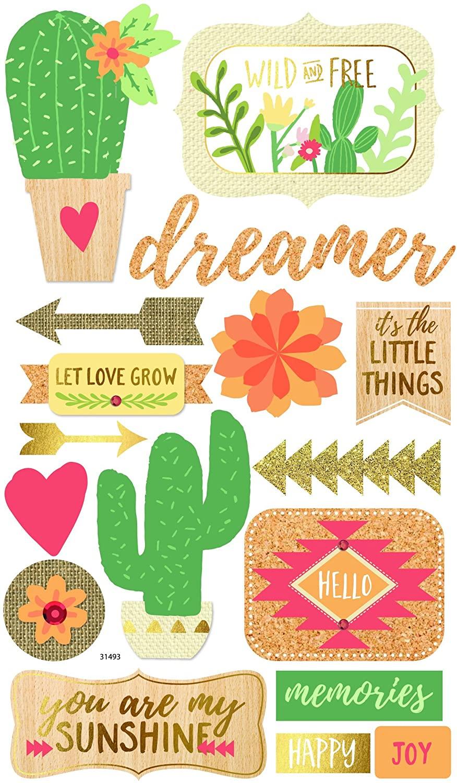 Momenta Cactus Mixed Media Stickers
