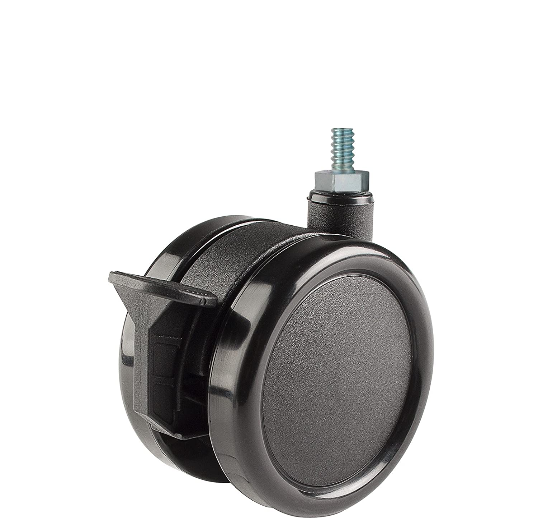 Twin Wheel Caster Solutions TWUN-75U-M10-BK-B 3