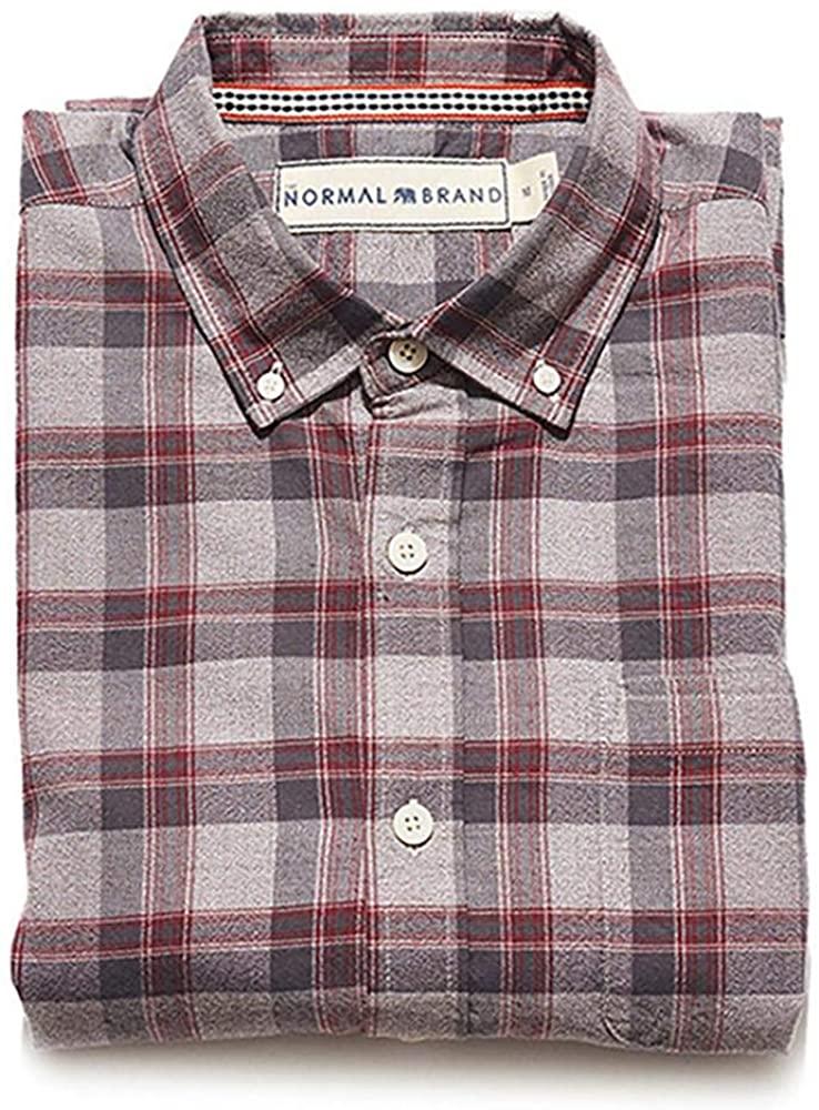 Jaspe Yarn Plaid Button Down Shirt