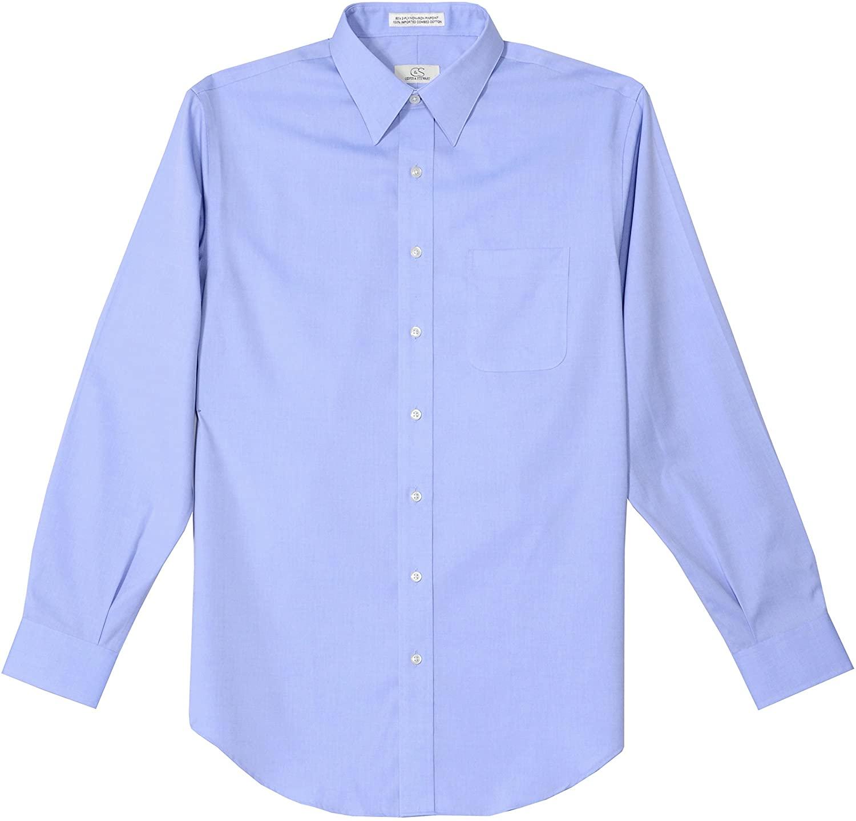 Cooper and Stewart Non-Iron Pinpoint Dress Shirt - Blue (34-35 15.5