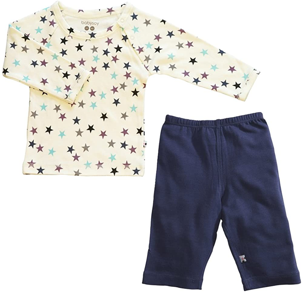 Babysoy Organic Star Tee and Comfy Solid Pants Set