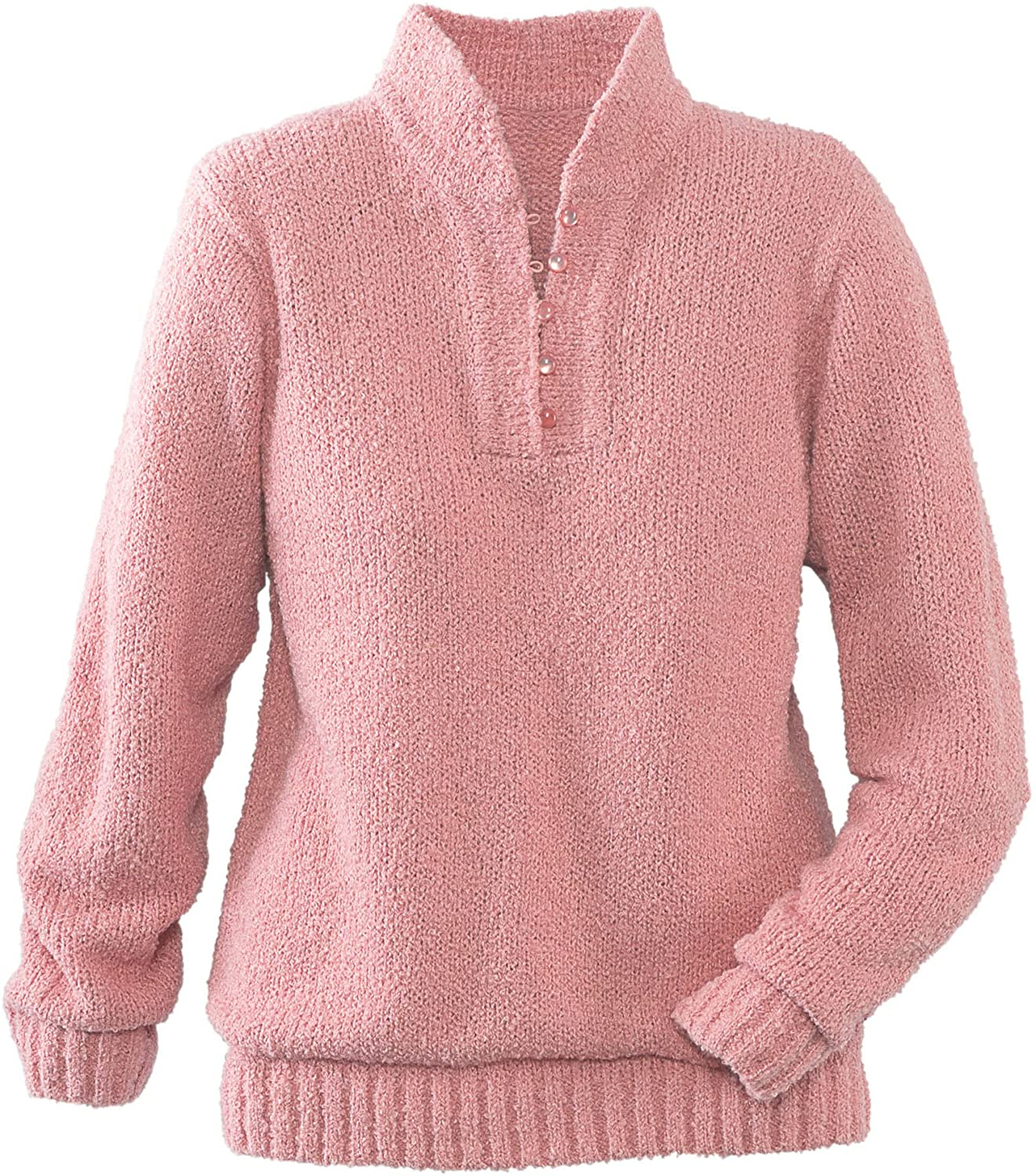 National Bouclé Henley Sweater