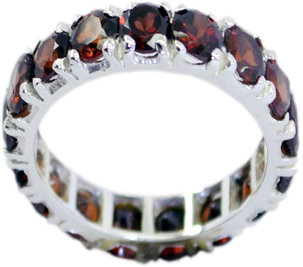 55Carat Choose Your Color Natural Gemstone Sterling Silver Band Ring Birthstone Friendship Love Size 5-13