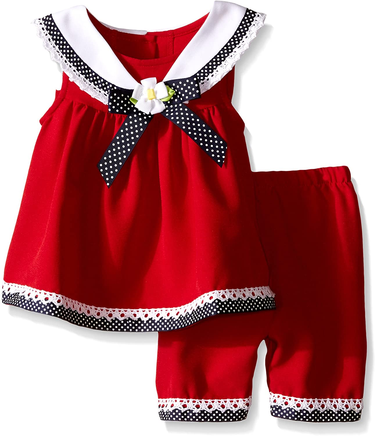 Bonnie Baby Baby Girls Sailor Playwear Set