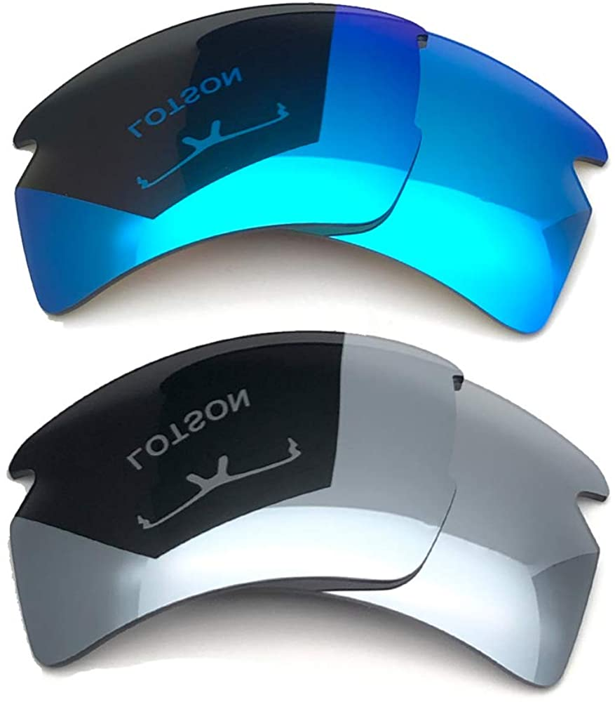 LOTSON 2 Pairs Replacement Polarized Lenses for Oakley Flak 2.0 XL OO9188 Polarized 100% UVAB - Multiple Options