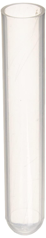 Globe Scientific 110471 Polypropylene Test Tube, 5ml Capacity, 13mm Dia, 75mm Height (Bag of 1000)