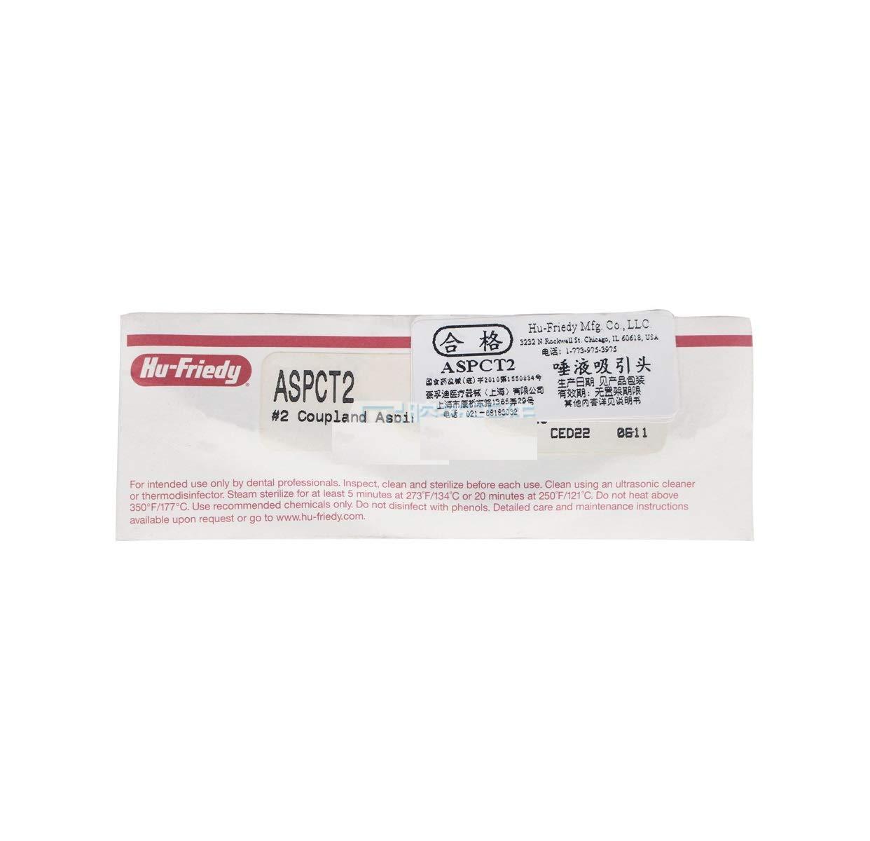 Dental HU-Friedy Coupland Aspirator Head ASPCT2 caliber 2.0mm