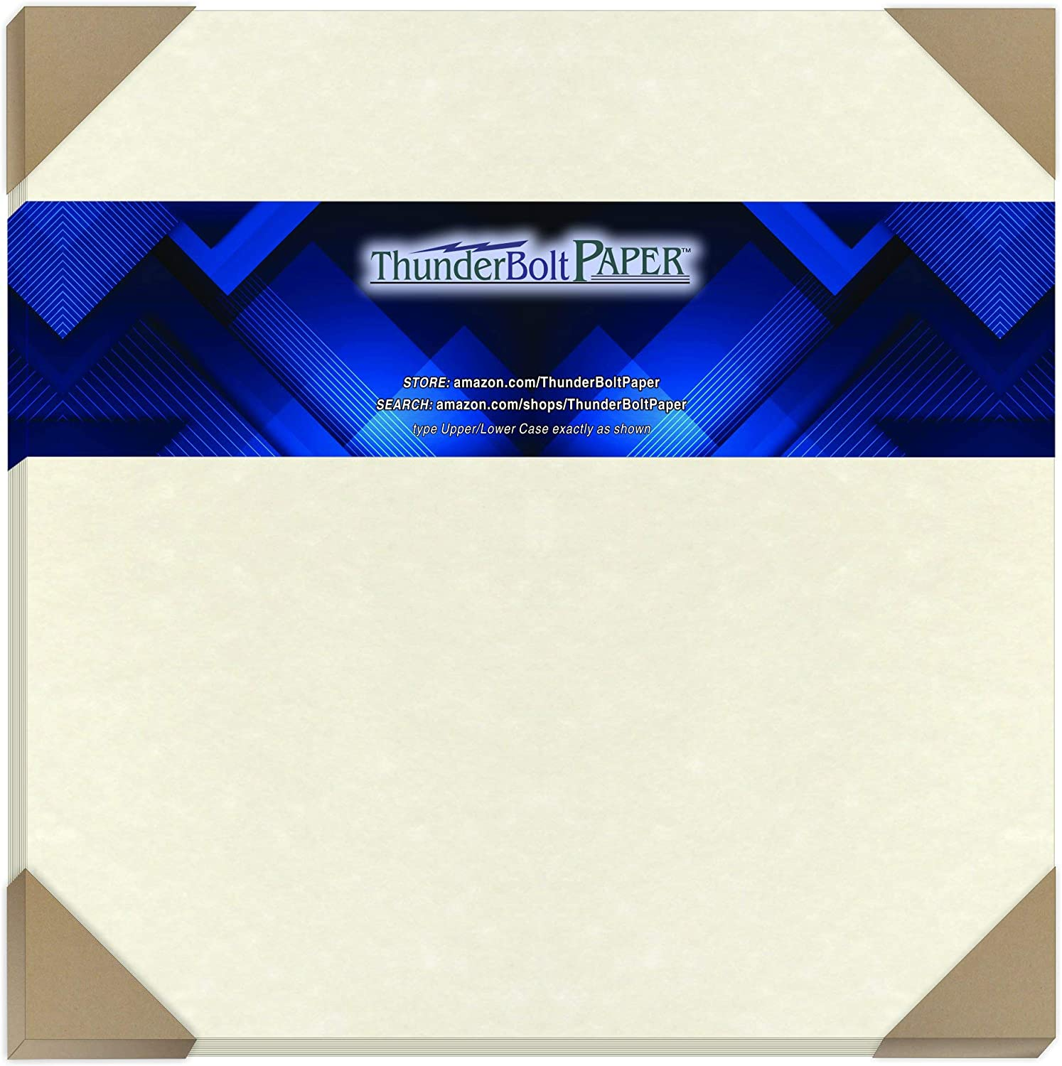 25 White Parchment 65lb Cover Weight Paper 12
