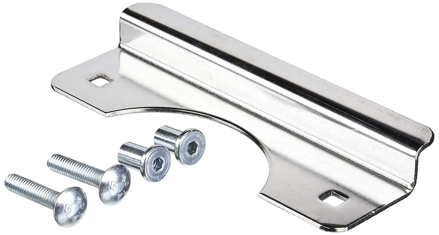 Don-Jo OSLP-207-EBF 12 Gauge Steel Short Type Latch Protector with Fasteners, Chrome Plated, 2-5/8