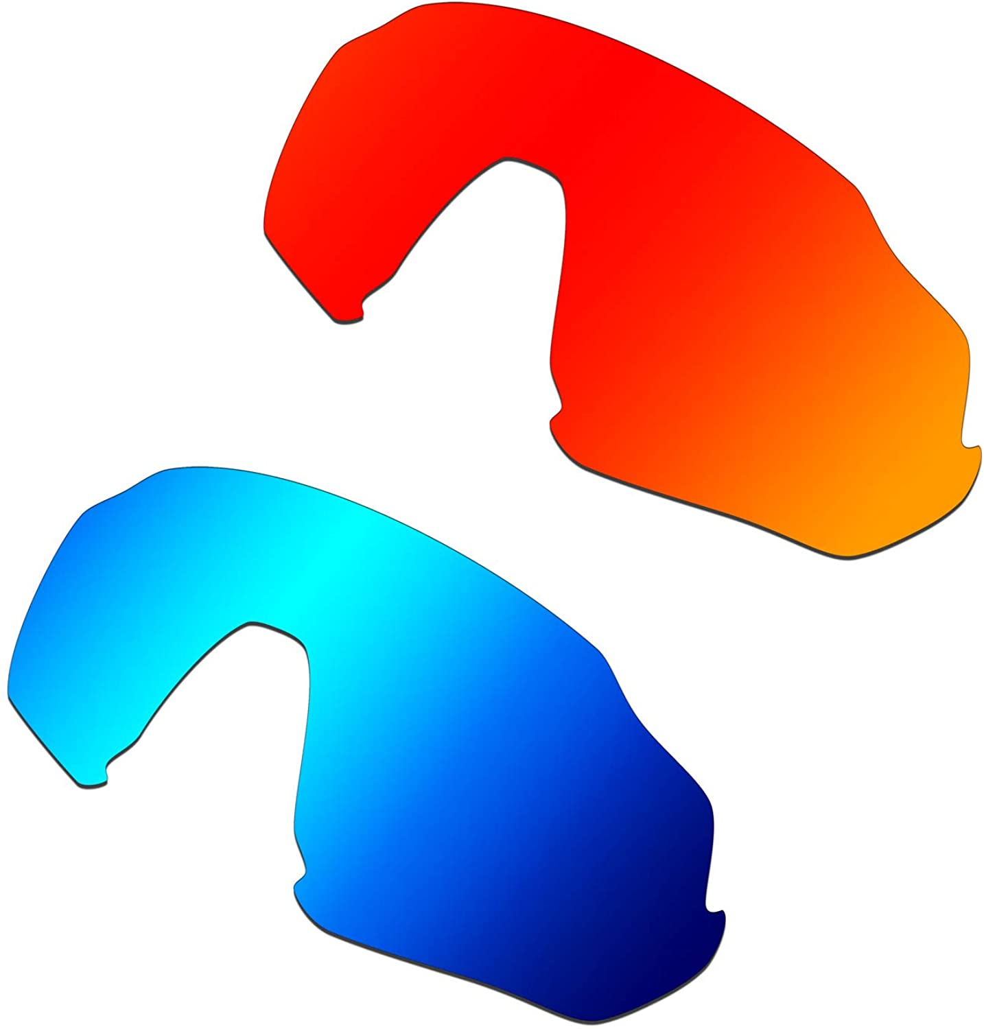 HKUCO Replacement Lenses For Oakley Flight Jacket Sunglasses