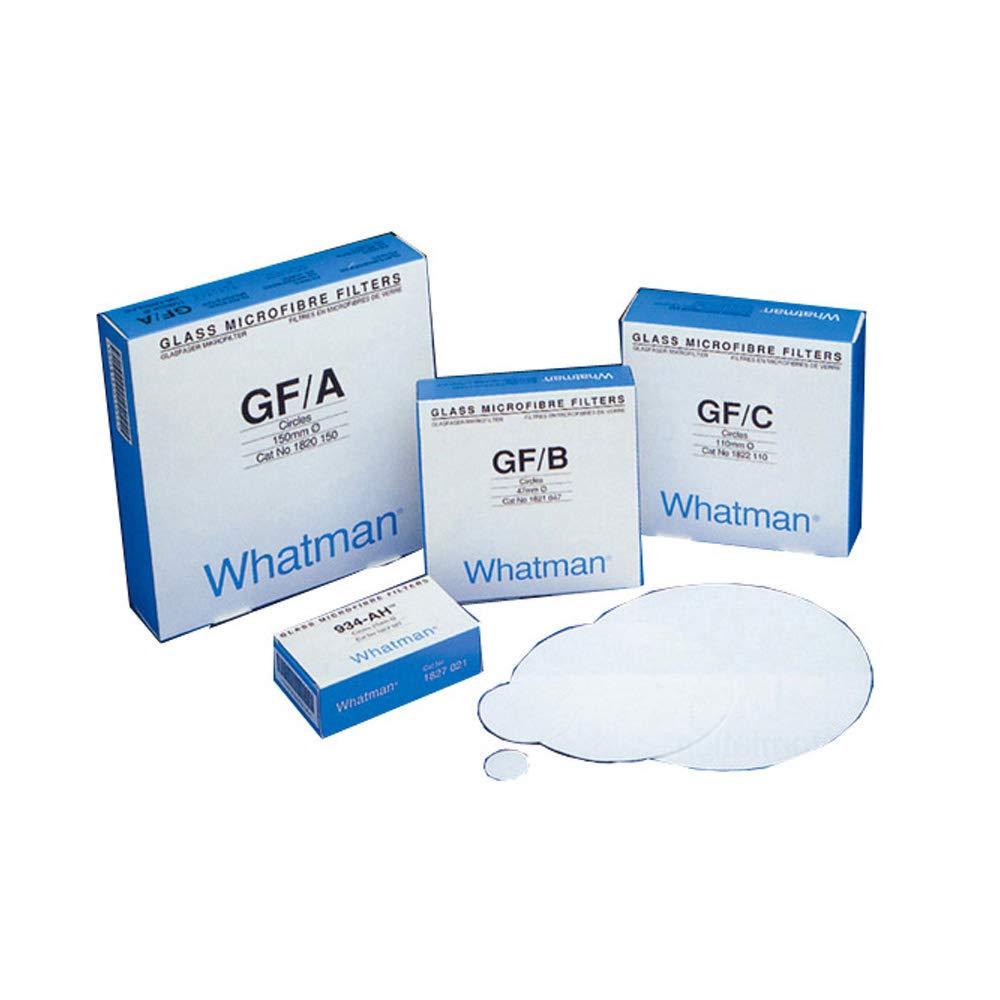 Whatman 1822-024 Glass Microfiber Binder Free Filter, 1.2 Micron, 6.7 s/100mL Flow Rate, Grade GF/C, 2.4cm Diameter (Pack of 100)