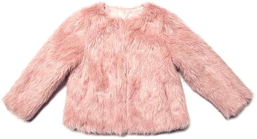 Appaman Kids Womens Extra Soft Shimmer Faux Fur Coat (Toddler/Little Kids/Big Kids)