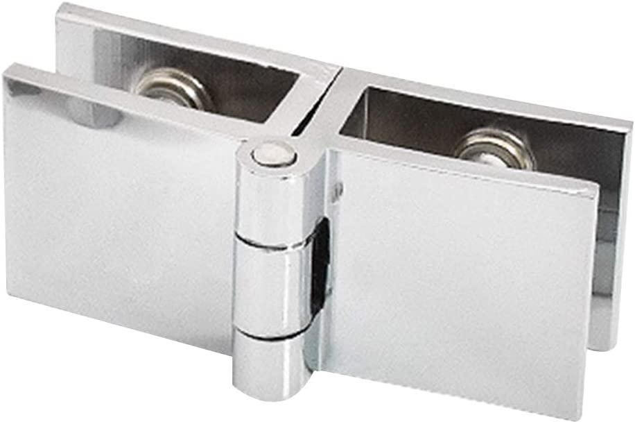 Door nge 90 180 Degree sy Install Cupboard Bathroom Cabinet Bilateral Clip Durable Zinc Practical Furniture Glass Clamp Home(180 Degrees2pcs)
