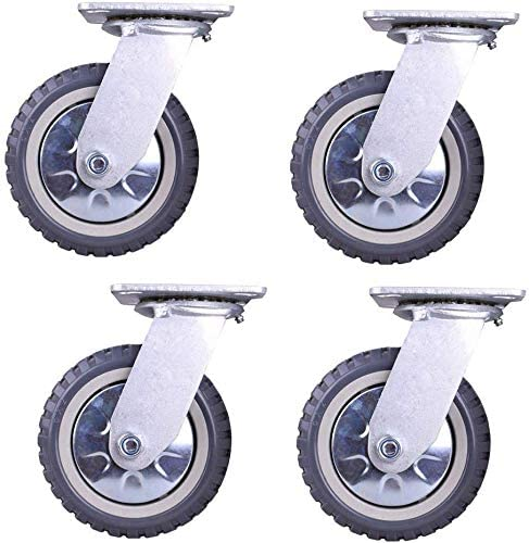 Casters (4 sets) Universal 4-inch high-performance industrial 5-inch Hot Wheels 8 Insulated size 4 5 6 8 inches