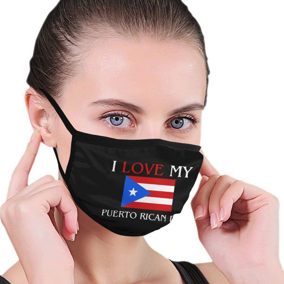 BOKUTT Dust and odor mask I Love My Puerto Rican Dad Adult Kids Reusable Graphics Fashion Washable Nose Wear For ing-Washable and reusable