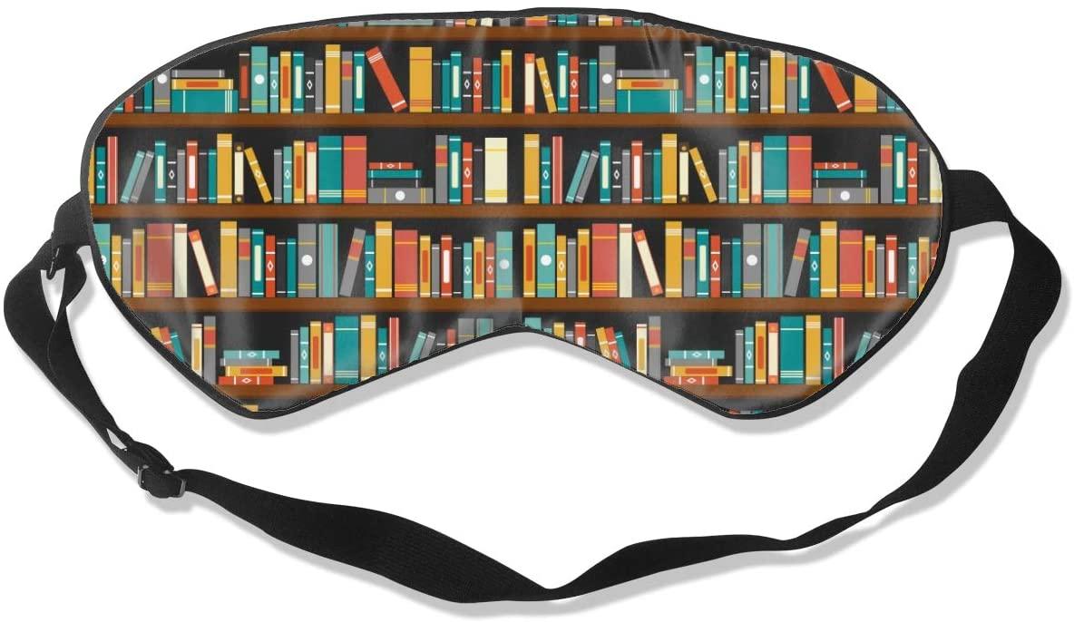 Bookshelf Eye Mask Sleeping Mask 100% Double-Sided Silk Eyeshade Eye Cover