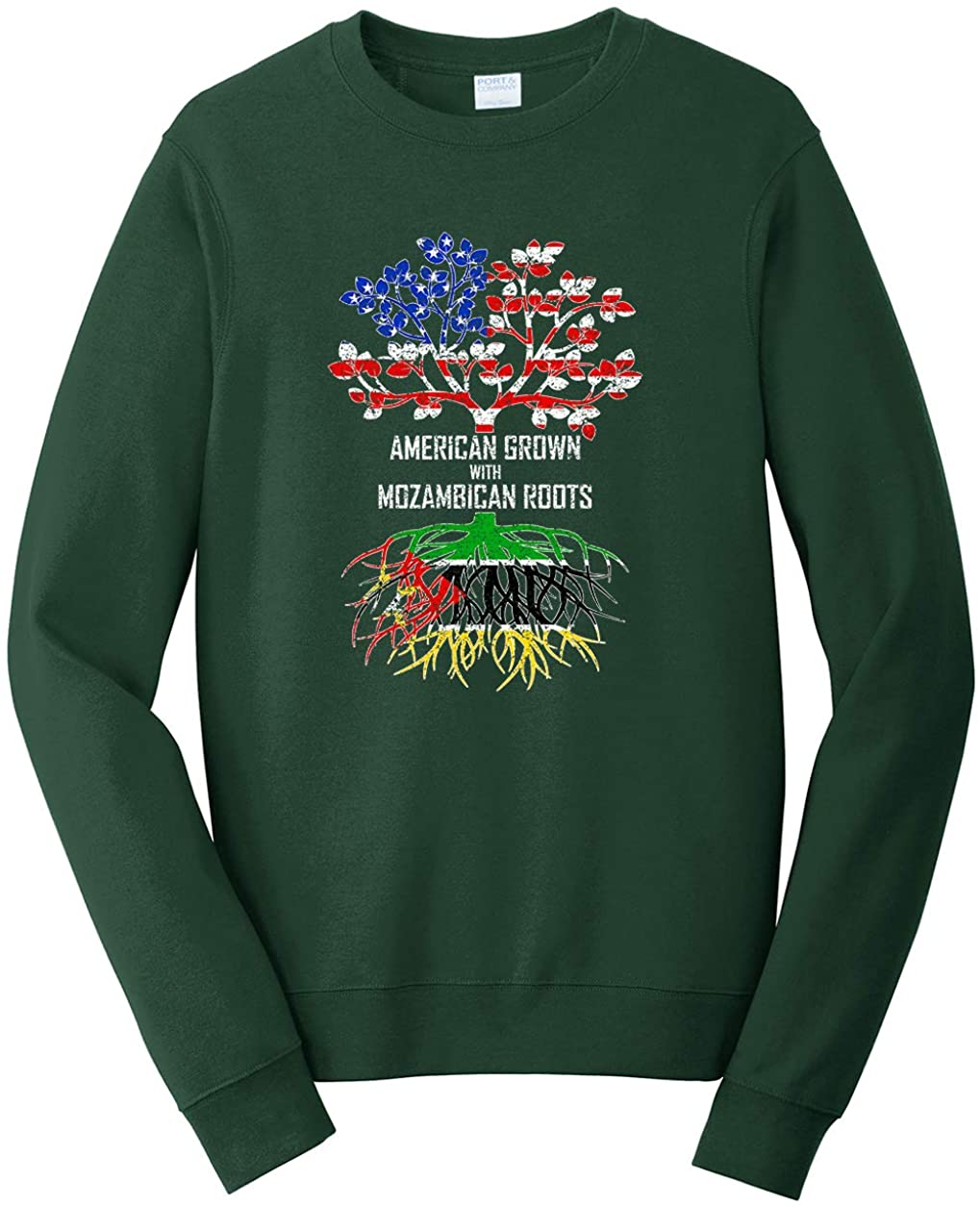 Tenacitee Unisex American Grown with Mozambican Roots Sweatshirt