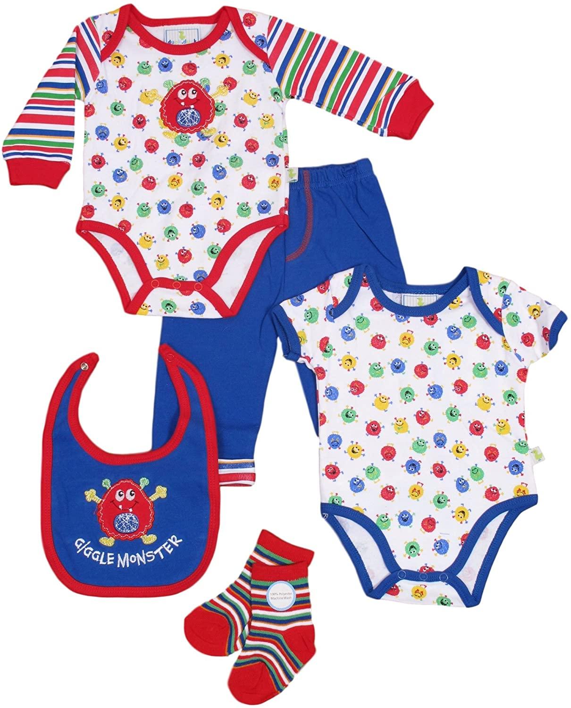 DDG Boys� Baby Clothing Set � Onesie, Bodysuit, Bib, Pants, and Socks � 5/PCs