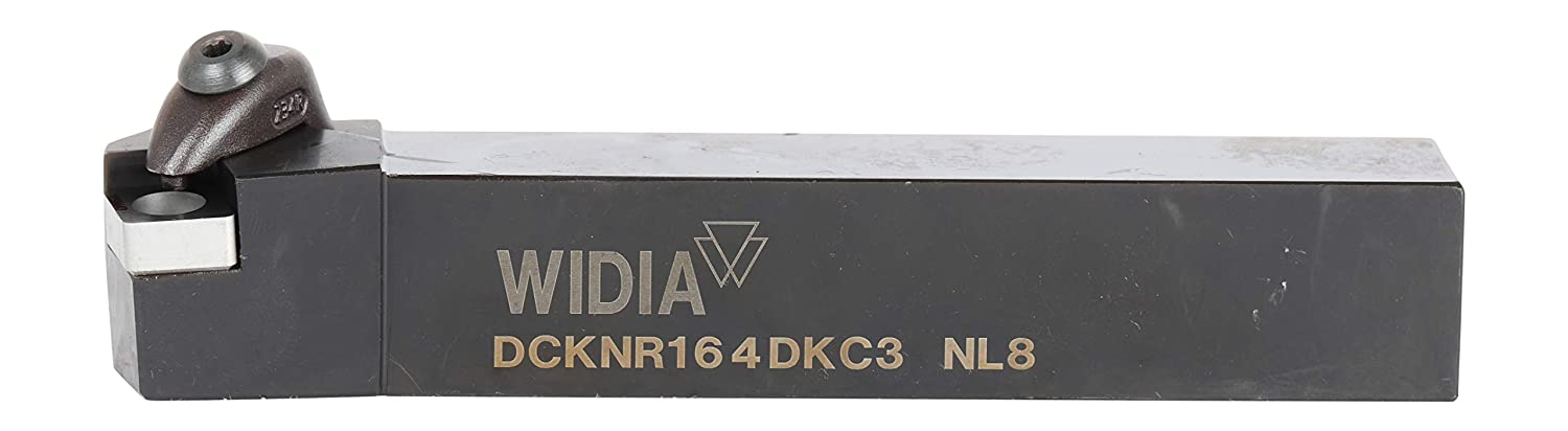 WIDIA DCKNR164DKC3 DCKN D-Style Clamping Toolholder for Negative Inserts, 15° Angle, Steel, 1 Square Shank, Right, 6 Length