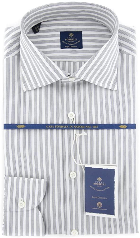 New Luigi Borrelli Black Striped Extra Slim Shirt