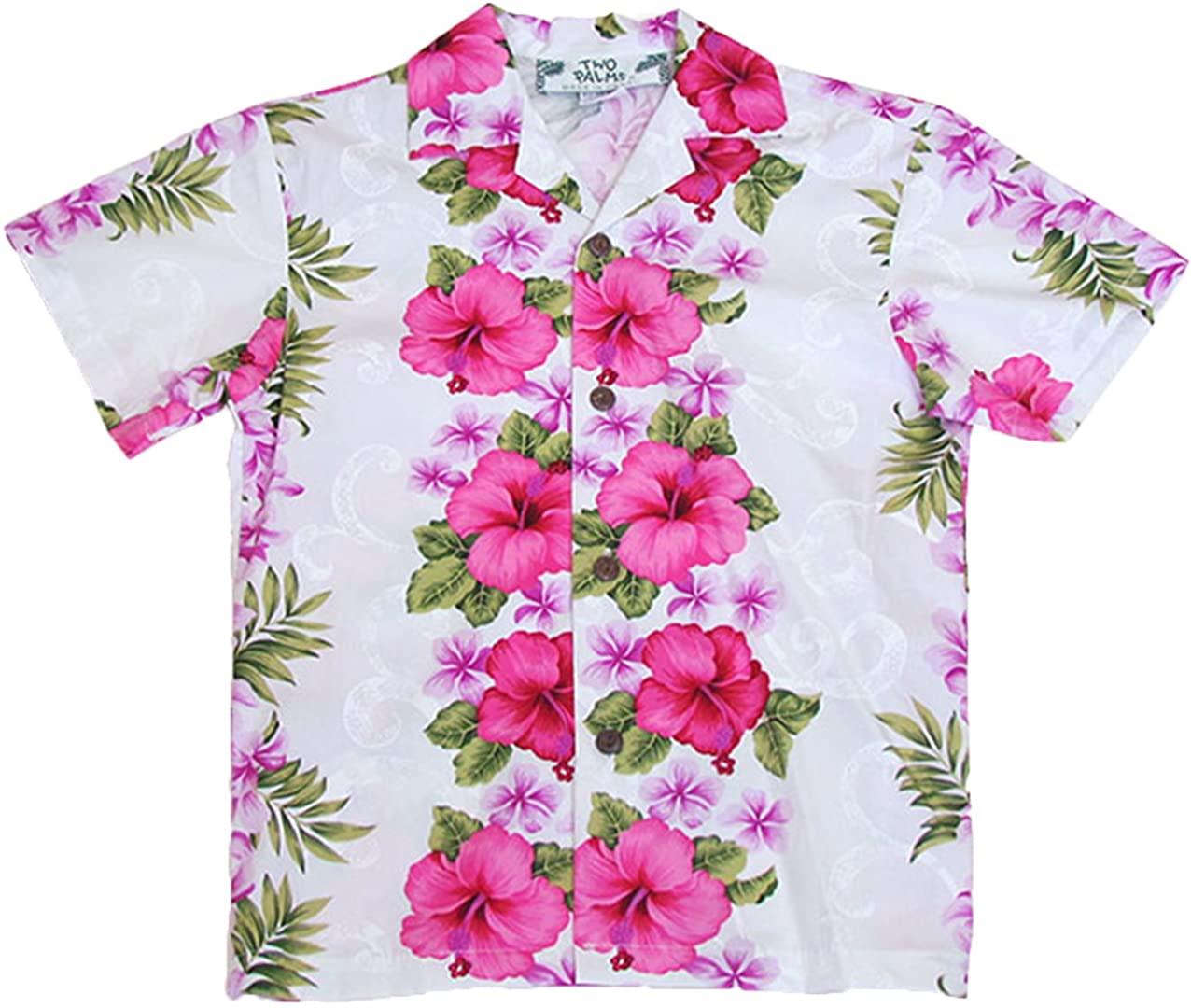 Two Palms Boy's Plumeria Panel Cotton Shirt