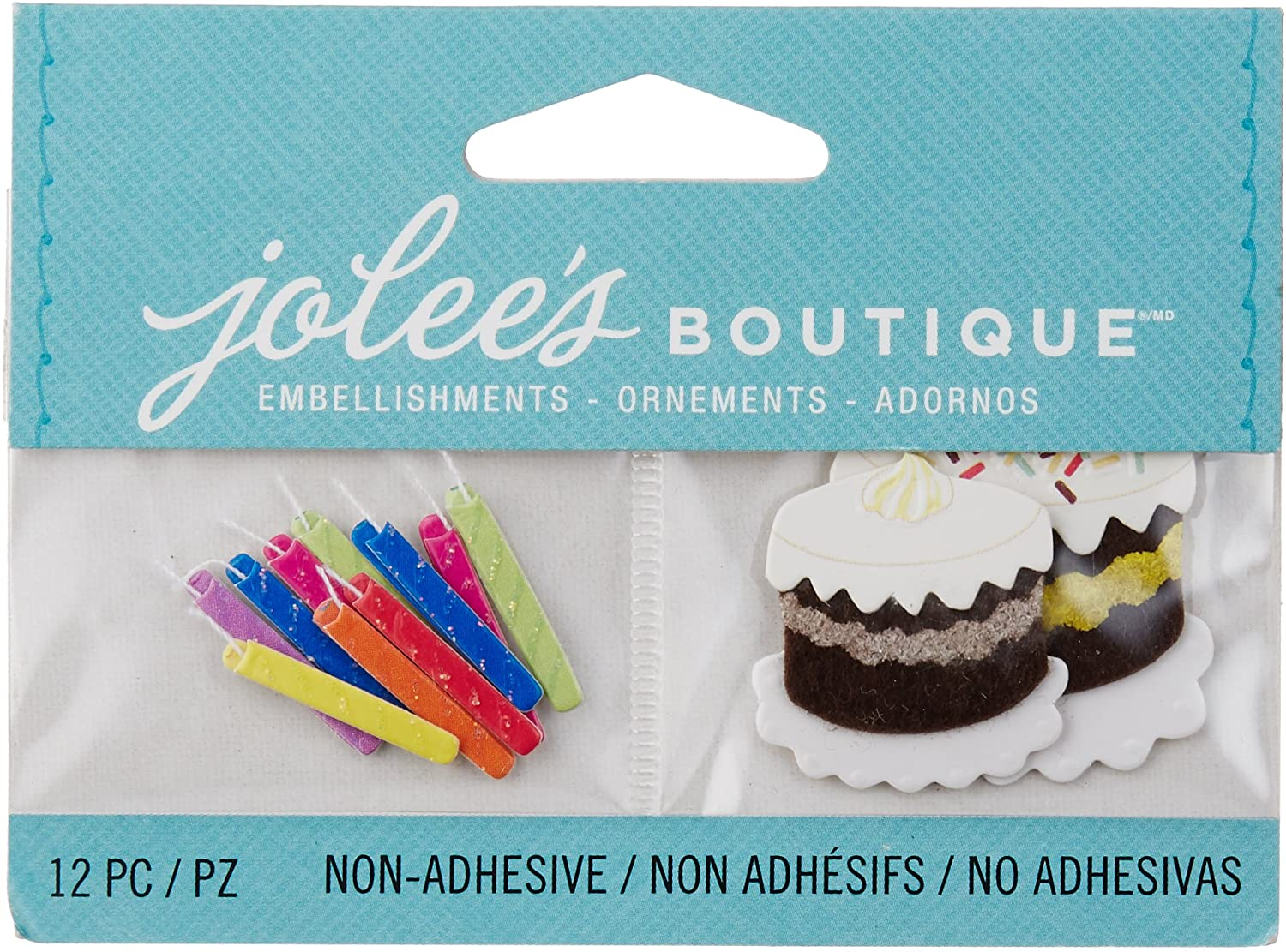 Jolee's Boutique Scrapbooking Embellishment, Birthday Candles and Cakes